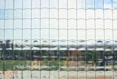 стеклянная усиленная форточка макроса стоковые фотографии rf