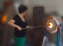 Стеклянная дуя печь Стоковая Фотография