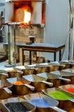 Стеклянная фабрика Стоковые Изображения RF