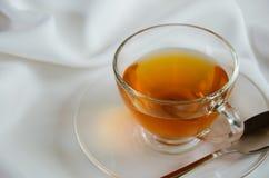 Стеклянная чашка чаю для перерыва на чай Стоковое Изображение RF