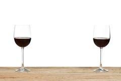 стеклянное вино красного цвета 2 Стоковые Фото