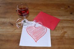 стеклянное красное вино стоковое изображение