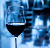 стеклянное красное вино Стоковая Фотография