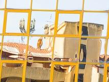 Стеклянное покрашенное отражение Стоковые Изображения