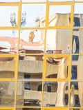 Стеклянное покрашенное отражение Стоковые Фотографии RF