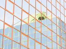Стеклянное покрашенное отражение Стоковые Изображения RF