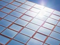 Стеклянное покрашенное отражение Стоковые Фото