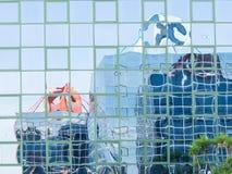 Стеклянное покрашенное отражение Стоковое Фото