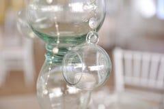 Стеклянное украшение на таблице Стоковое Фото