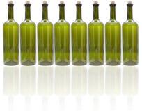 Стеклянные бутылки вина Стоковые Фотографии RF