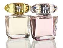 Стеклянные бутылки дух на белизне Стоковое Фото