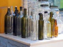 Стеклянные бутылки для масла или уксуса Стоковая Фотография RF