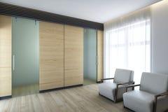 Стеклянные двери Стоковые Изображения RF