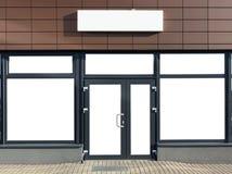 Стеклянные дверь и окна нового офиса Стоковые Изображения RF