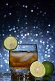 Стеклянные виски и лед Стоковое Изображение