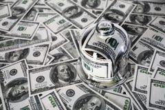 стеклянные деньги опарника Стоковые Изображения RF
