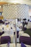 Стеклянные детали лампы на таблице Стоковое Изображение