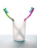 стеклянные зубные щетки 2 Стоковая Фотография