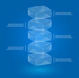 Стеклянные коробки infographic иллюстрация вектора