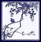 Стеклянные птицы картины на ветвях Стоковое Изображение RF