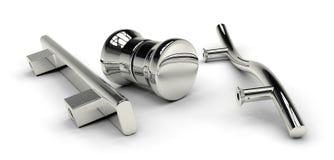 Стеклянные ручки двери Стоковое фото RF