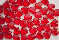 Стеклянные сердца, символ влюбленности, Стоковые Фотографии RF