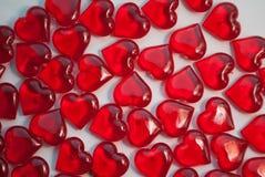 Стеклянные сердца, символ влюбленности, Стоковые Изображения RF