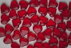 Стеклянные сердца, символ влюбленности, Стоковое Изображение