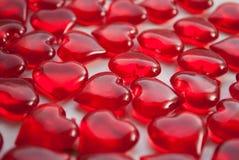 Стеклянные сердца, символ влюбленности, Стоковое Фото