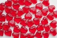 Стеклянные сердца, символ влюбленности, Стоковая Фотография RF