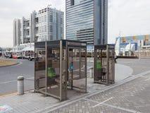 Стеклянные телефонные будки Стоковое Изображение