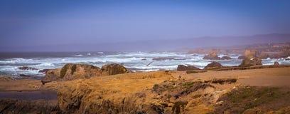 Стеклянные фото следа пляжа в Fort Bragg CA Стоковое Изображение