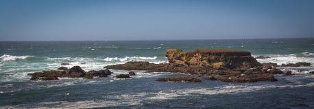 Стеклянные фото следа пляжа в Fort Bragg CA Стоковые Фото