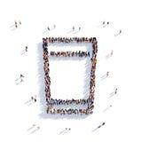 Стеклянные люди 3d воды Иллюстрация вектора