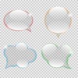 Стеклянный вектор пузыря речи прозрачности Стоковые Фото