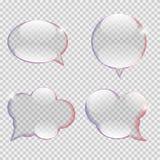 Стеклянный вектор пузыря речи прозрачности Стоковое Изображение RF