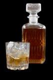 Стеклянный виски на темноте одном Стоковые Фото