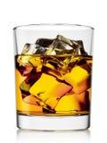 Стеклянный виски с льдом Стоковое Изображение RF