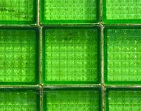 Стеклянный зеленый зеленый цвет предпосылки плитки Стоковая Фотография