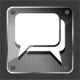 Стеклянный значок диалога Стоковые Фотографии RF
