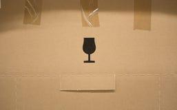 Стеклянный значок на коробке Стоковое Изображение RF