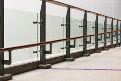 Стеклянный и стальной балкон Стоковая Фотография RF