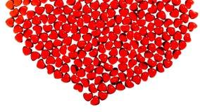 стеклянный красный цвет сердца Стоковые Фотографии RF