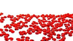 стеклянный красный цвет сердца Стоковое фото RF