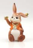 Стеклянный кролик с пчелами Стоковое Изображение