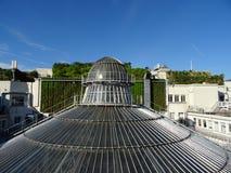 Стеклянный купол Galeries Лафайета в Париже Стоковая Фотография RF