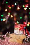 Стеклянный опарник с прогнозами рождества Стоковое Фото