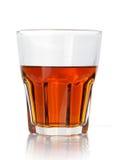 стеклянный предмет над белизной вискиа Стоковое Изображение RF