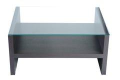 Стеклянный стол изолировано Стоковые Фото