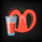 стеклянный томат сока Стоковые Фото